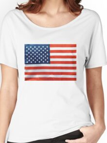 American RED WHITE & BLUE Women's Relaxed Fit T-Shirt
