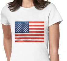 American Flag RED WHITE & BLUE Womens Fitted T-Shirt