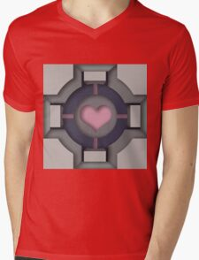 Companion Cube Mens V-Neck T-Shirt