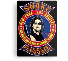 Snake Plissken Colour Metal Print