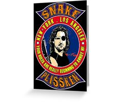Snake Plissken Colour Greeting Card