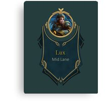 League of Legends - Lux Banner (Steel Legion) Canvas Print