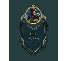League of Legends - Lux Banner (Steel Legion) Photographic Print