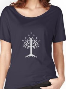 Pixel Tree of Gondor (White) Women's Relaxed Fit T-Shirt