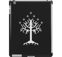 Pixel Tree of Gondor (White) iPad Case/Skin