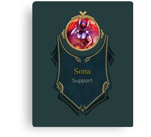 League of Legends - Sona Banner (Concussive) Canvas Print
