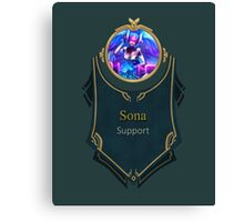 League of Legends - Sona Banner (Ethereal) Canvas Print