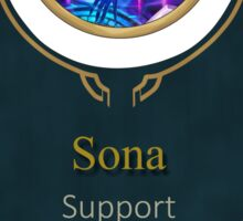 League of Legends - Sona Banner (Ethereal) Sticker