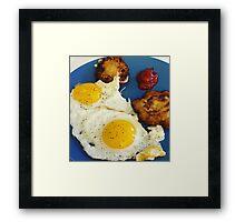 Eggs and Latkes Framed Print