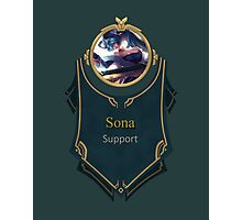 League of Legends - Sona Banner Photographic Print