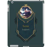 League of Legends - Sona Banner iPad Case/Skin