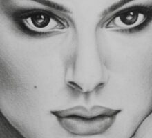 Drawing of Natalie Portman by Florence Lee Sticker