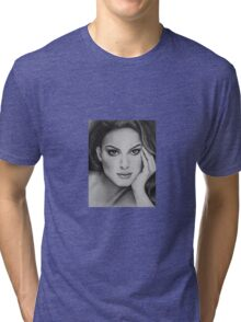Drawing of Natalie Portman by Florence Lee Tri-blend T-Shirt