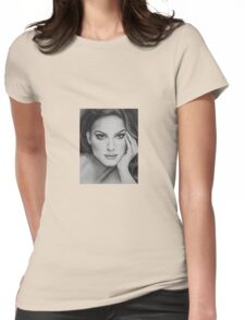 Drawing of Natalie Portman by Florence Lee Womens Fitted T-Shirt