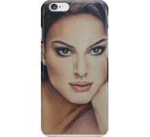 Pencil drawing of Natalie Portman by Florence Lee iPhone Case/Skin