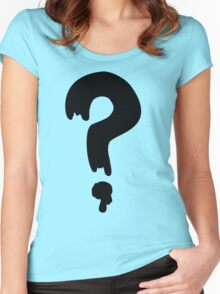 Gravity Falls Question Mark Women's Fitted Scoop T-Shirt