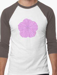 Purple Flower Men's Baseball ¾ T-Shirt