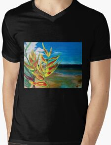 Heliconia Tropical Parrot Plant Take Me There Mens V-Neck T-Shirt
