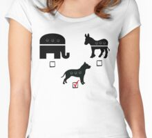 Republican? Democrat? Pitbull! Women's Fitted Scoop T-Shirt