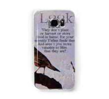 Matthew 6:26 scripture Samsung Galaxy Case/Skin