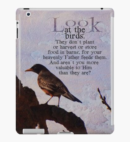Matthew 6:26 scripture iPad Case/Skin
