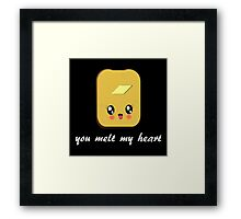 KAWAII TOAST Framed Print