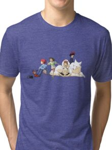 Ghibli Girls Tri-blend T-Shirt