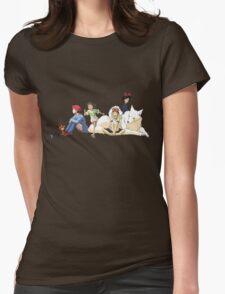 Ghibli Girls Womens Fitted T-Shirt