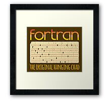 Fortran - The Original Hanging Chad Framed Print
