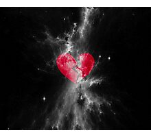 Broken Heart Lost In Space Photographic Print