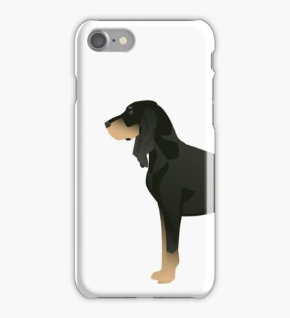Black and Tan Coonhound Basic Breed Design iPhone Case/Skin
