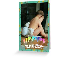 Baby Bunny Happy Easter Card Greeting Card