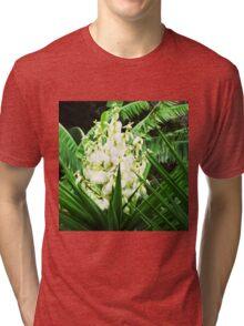 White Flower Tri-blend T-Shirt