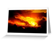 Sunset at Champion Lakes Greeting Card