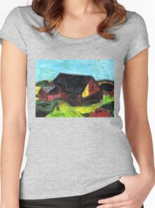 Down On The Farm.. Women's Fitted Scoop T-Shirt