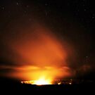 Glowing Volcanic Gasses and Stars by Randy Richards