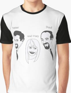 Peter Paul and Mary Graphic T-Shirt