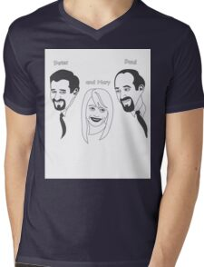 Peter Paul and Mary Mens V-Neck T-Shirt