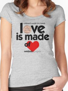 Love is Made of Heart Women's Fitted Scoop T-Shirt