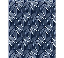 Blue leaves design for Leggings, cases ,Pillows,Totes( 4234 views) Photographic Print