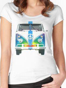 Retro Classic Volkswagen Hippy Van Women's Fitted Scoop T-Shirt