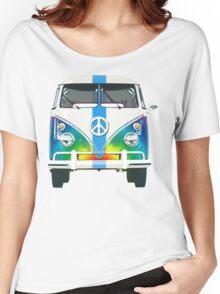 Retro Classic Volkswagen Hippy Van Women's Relaxed Fit T-Shirt