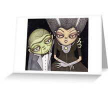 Frank and his Bride Greeting Card