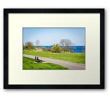 Lone bench Framed Print