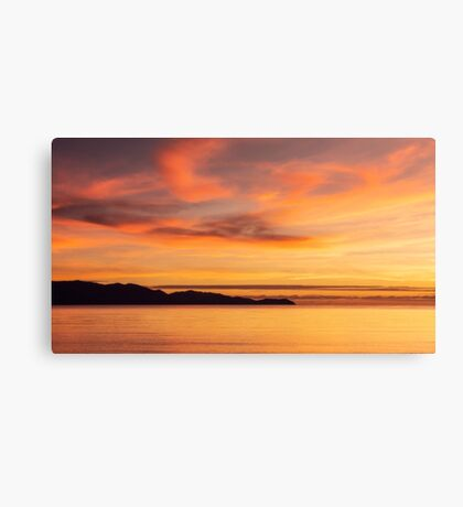 Magnetic Island in Silhouette.  Queensland, Australia.  Canvas Print