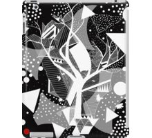 black and white abstract with touch of red iPad Case/Skin