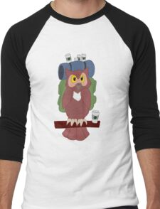 Hitchhiking Caffeinated Owl Men's Baseball ¾ T-Shirt