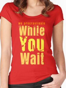 While you wait Women's Fitted Scoop T-Shirt