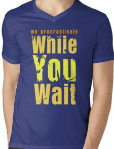 While you wait Mens V-Neck T-Shirt