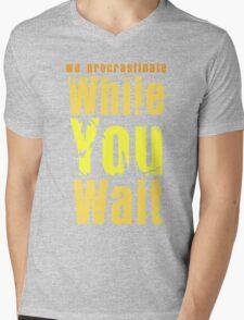While you wait Mens V-Neck T-Shirt